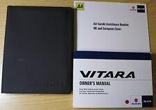 SUZUKI VITARA Proprietari Manuale Manuale Wallet 2015-2017 Pack 3847