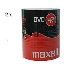 MAXELL DVD-R Blank Recordable Digital Disc DVDR 4.7GB 16x SPEED 120mins 100Pk x2