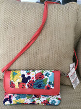 NWT DISNEY PARKS MICKEY MOUSE CROSSBODY CLUTCH FLORAL