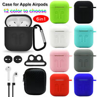 Earbuds Silicone Case Anti Lost Strap Earphone Cover Holder For Apple AirPods