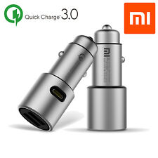Original Xiaomi Car Charger Metal Casing Dual USB Ports Fast Charging for Phones