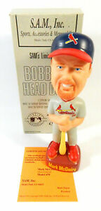 HTF Mark McGwire Grey St. Louis Cardinals Limited Edition SAM Bobblehead