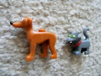LEGO Simpsons Pets - Dog Greyhound Santa's Little Helper & Cat Snowball - New