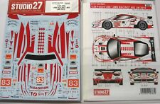 DECAL: 1/24 S27950 2012 JMB RACING FERRARI 458 LEMANS