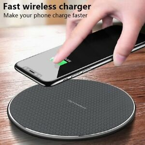 Fast Wireless Charger Pad for Iphone  Wireless Charging Stand for Android Phone