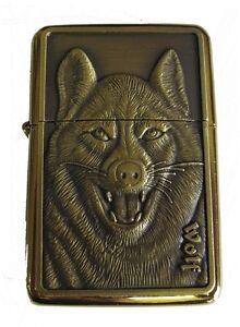 Wolf Design Star Petrol Lighter In Gift Tin