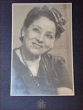 IDA MANNARINI Rara Fotografia Dedica Autografa 1948 LIRICA Opera Mezzo Soprano
