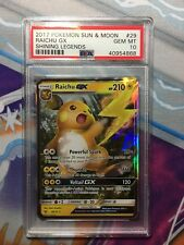 2017 Pokemon Sun & Moon Shining Legends 29 Raichu GX PSA 10 Gem Mint