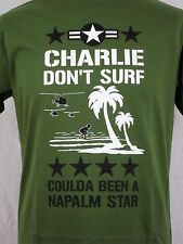 The Clash Inspired T-Shirt Charlie Don't Surf Apocalypse Now Col Kilgore Punk