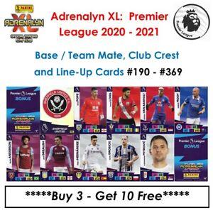 Adrenalyn XL - Premier League 2020 - 21: Base Cards / Team Mate Cards #190 - 369