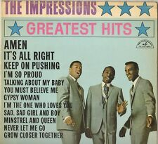 "THE IMPRESSIONS ""GREATEST HITS"" SOUL 60'S LP ABC PARAMOUNT 515 CURTIS MAYFIELD!"