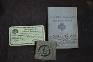 1930 Girl Scout Troop 4 Balston Spa, NY *ID Card*Home Service Record*Troop Badge