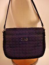 "Vera Bradley Shoulder Hobo Bag Flap Black Quilted w/ Baroque 9x12x3  10"" Drop"