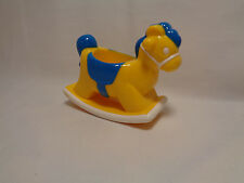Plastic Dollhouse Miniatures Rocking Horse Yellow Blue - unknown