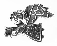 RARE RETIRED JAMES AVERY STERLING SILVER SINGING CHOIR ANGEL PIN