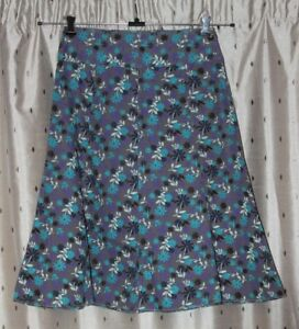 "MISTRAL Ladies Pretty A Line Floral Cotton Skirt ~ Size 10 ~ 29"" Long"