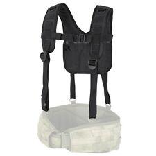 Condor 215 BLACK Military Tactical H-Harness Shoulder Battle Belt Suspender