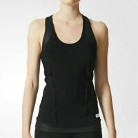 adidas Stella McCartney The Perf Black Performance Stretch Tank Top AI8377