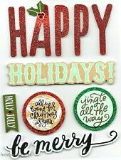 Mambi-Me & My Big Ideas Soft Spoken Pegatinas-SS1527 Felices Fiestas Navidad