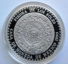 """Mexico Silver """"Piedra de los soles""""  2 oz Aztec Calendar"""
