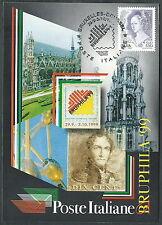 1999 ITALIA CARTOLINA SPECIALE BRUXELLES BRUPHILA - ED