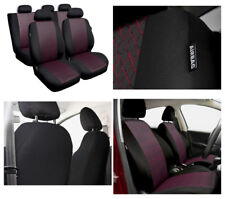 Car seat covers fit Toyota Auris - full set black / red