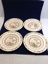 Copeland spode england cowslip s 713  vintage salad plates lot of 4 floral