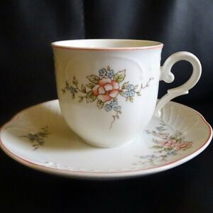 Villeroy & Boch Rosette: Kaffeetasse / Tasse mit Unterteller