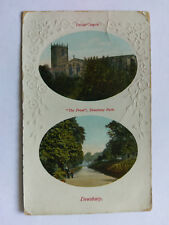 Dewsbury Vintage colour Postcard 1915 Parish Church & Park