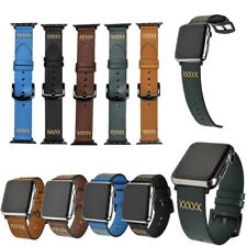 For Apple Watch Series 6/5/4/3/2/1/SE Vintage Genuine Leather Strap Wrist Band