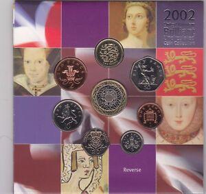 2002 Brilliant Uncirculated Moneda Colección Conjunto De 8 Monedas