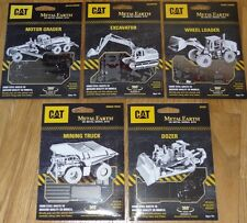 CAT Set of 5 Metal Earth 3D Laser Cut Models Grader Dozer Excavator Loader Truck