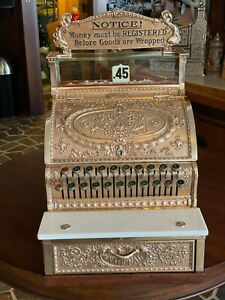 Antique National Cash Register 325 Woolworth w/Original Top Sign