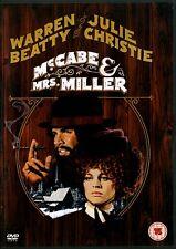 McCABE AND MRS MILLER WARREN BEATTY JULIE CHRISTIE DVD.REGION 2 DVD.FREE UK P&P