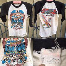Vintage Cruisin' On The Green 1980 T-Shirt Journey Black Sabbath Molly Hatchet