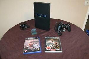 Playstation 2 mit  Original Controller + Memory Card + 2 Spiele / GOD OF WAR 1+2