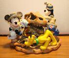 "Disney""Big Dig In The Boneyard"" Figurine/Clock Mickey Pluto Goofy Animal Kingdom"
