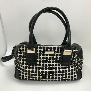 Kate Spade Hand Bag Large Black Cream Patterned Smart Everyday Wear 471422