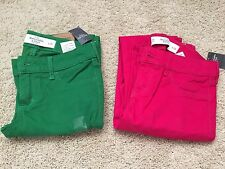 NWT Abercrombie & Fitch Jeggings Jeans In Dark Pink or Green Size 24 or 26