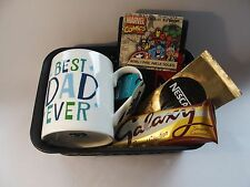 Fathers Day Gift Hamper MINI Basket Mug Dad Mug Socks Chocolate Mens Birthday
