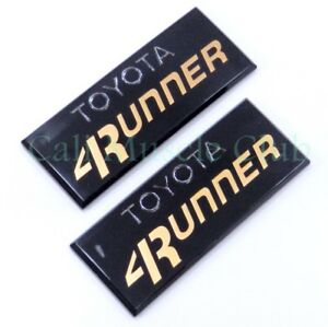 Toyota 4runner 1984 1985 1986 1987 1988 1989 Pillar Emblem Badge Nameplate 2pc