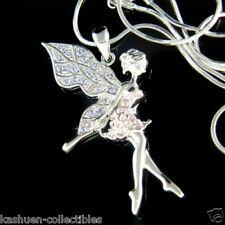 Purple w Swarovski Crystal Fairy Tinker Bell TINKERBELL Angel Pendant Necklace