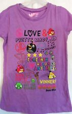 GIRLS M 8 PURPLE TOGETHER WE DO ANYTHING ANGRY BIRDS S/S SHIRT NWT ~ OLD NAVY