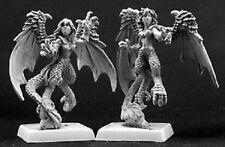 Harpies x 6 Reven Reaper Miniatures Warlord Demon Monster Winged Flying Melee