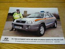 "HYUNDAI SANT FE POLICE CAR ORIGINAL PRESS PHOTO "" BROCHURE ""  jm"
