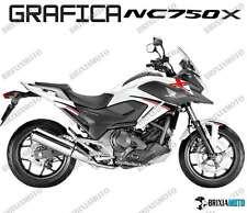 ADESIVI DECAL STICKERS HONDA NC750X NC 750 X RACING CARENA GRAFICA NERO ROSSO