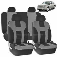 GRAY & BLACK DOUBLE STITCH SEAT COVERS 8PC SET for MERCURY MILAN SABLE
