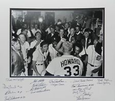 1972 Detroit Tigers Autographed display piece by 18 with 6 Deceased Gates Brown
