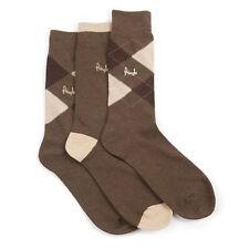Pringle Mens Waverley Cotton Rich Sock 3 Pack Brown Size 7-11