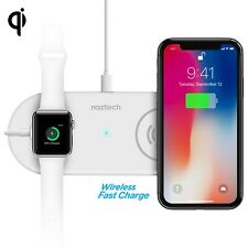 Naztech Power Pad Duo Qi Wireless Fast Charger - White